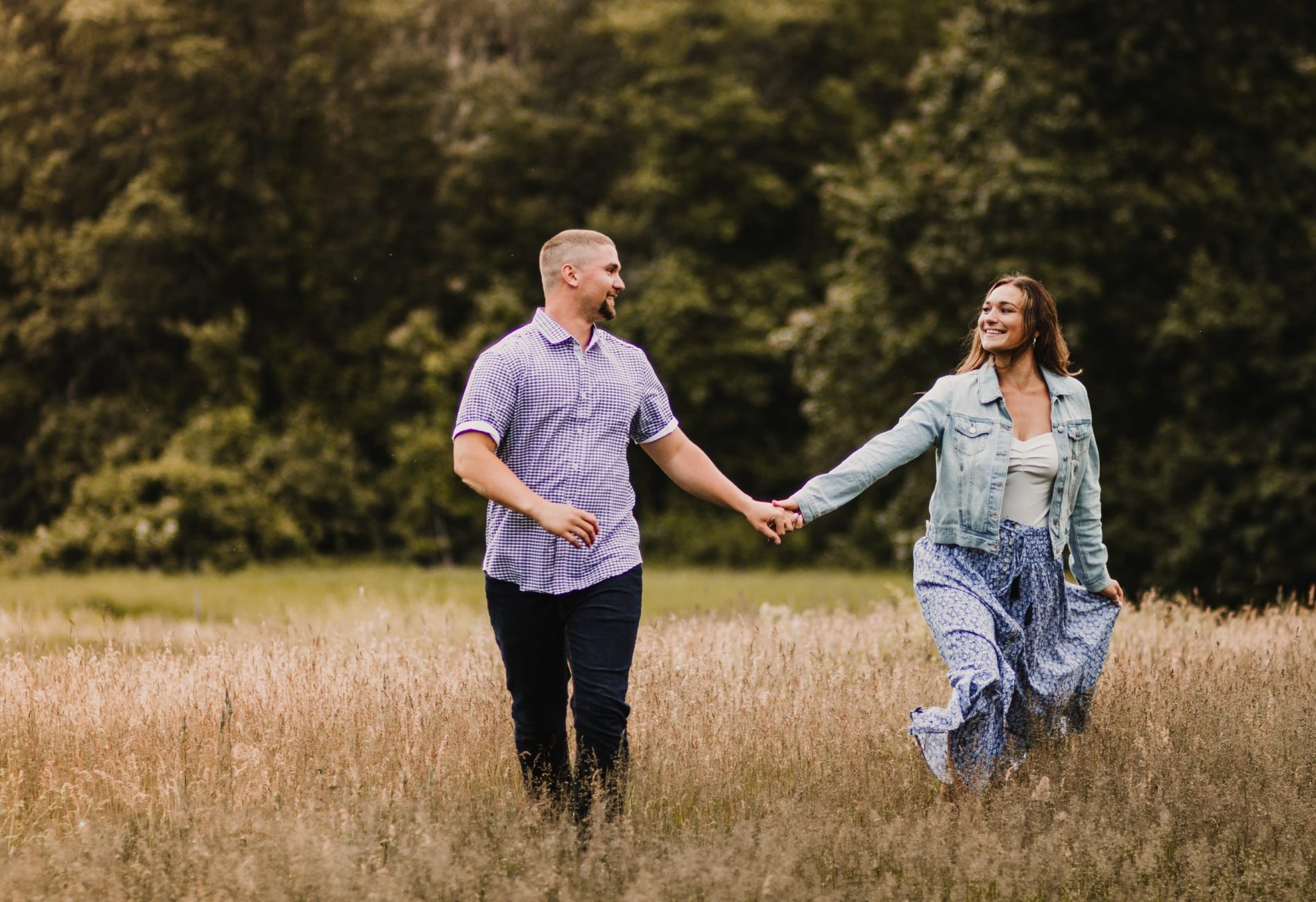 Meadow Engagement Session in Lexington MA