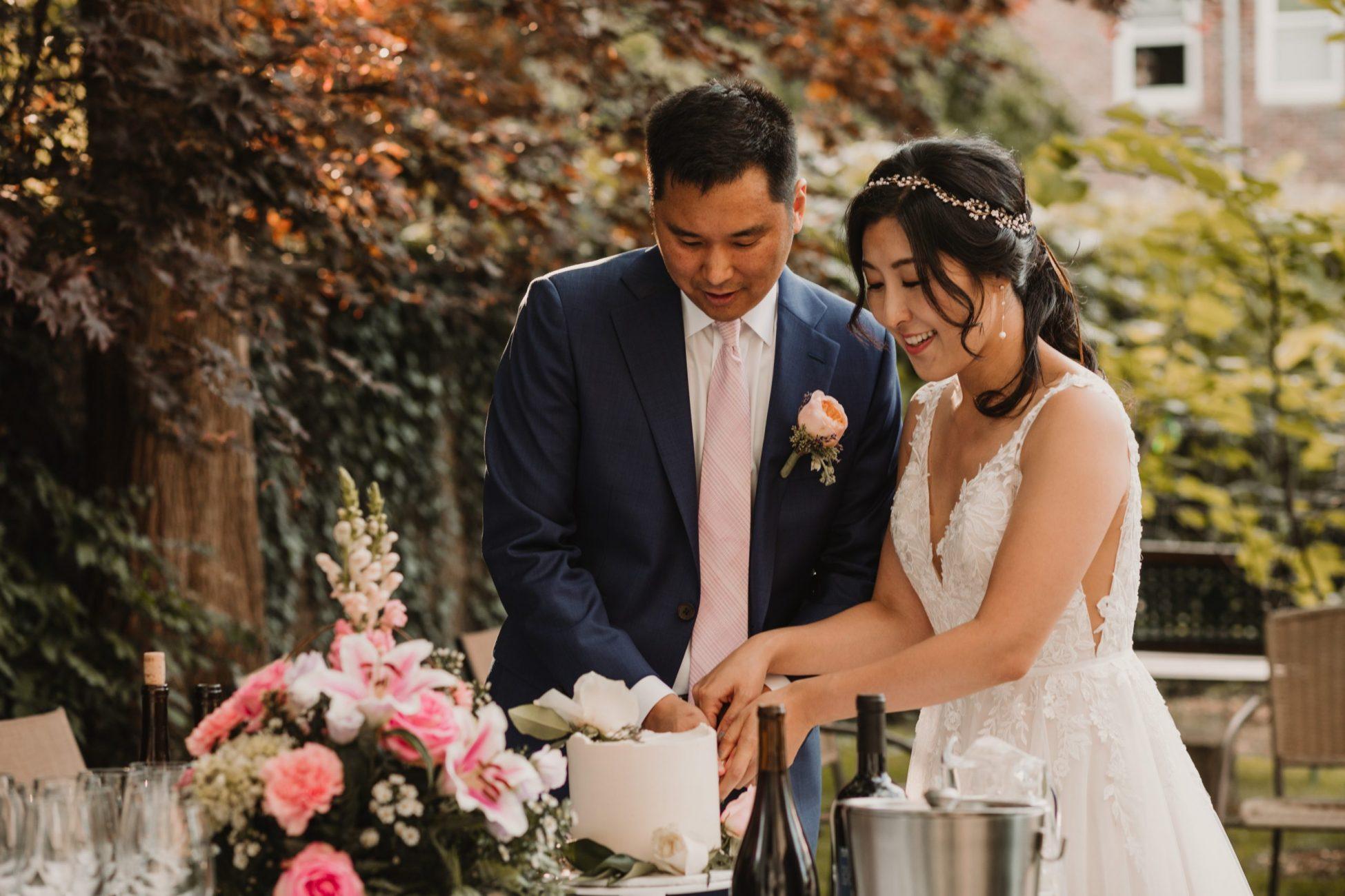 Backyard micro wedding in Cambridge MA